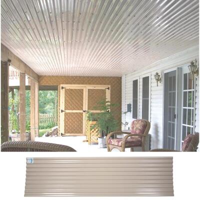 Tuftex UltraVinyl 26 In. x 10 Ft. Opaque Tan Square Wave Polycarb & Vinyl Corrugated Panels