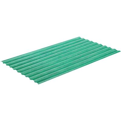 Sequentia WeatherGlaze 26 In. x 10 Ft. Green Round 1-Sided Fiberglass Corrugated Panels
