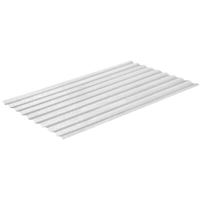 Sequentia WeatherGlaze 26 In. x 10 Ft. White Round 1-Sided Fiberglass Corrugated Panels