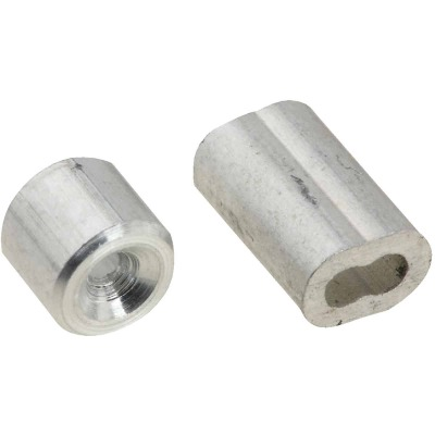 National 1/16 In. Aluminum Garage Door Ferrule & Stop Kit