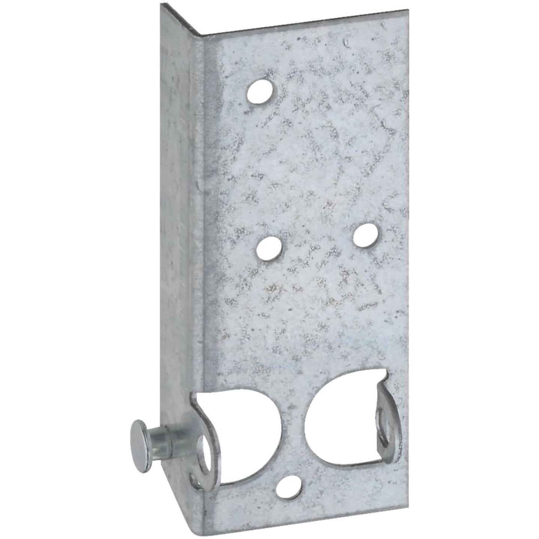 National Galvanized Steel Right & Left Hand Bottom Lift & Roller Bracket For Wood & Metal Garage Door Image 1