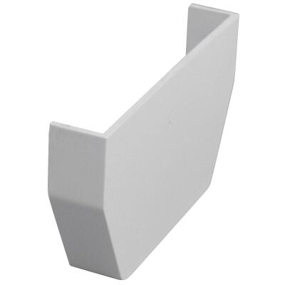 Raingo 5 In. Vinyl White Inside Gutter End Cap