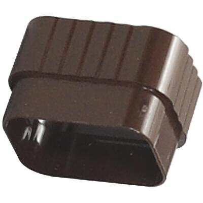 Amerimax 2 In. x 3 In. Traditional K-Style Brown Vinyl Downspout Connector