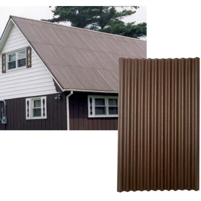Ondura 48 In. x 79 In. Organic Fiber Core & Asphalt Brown Ondura Corrugated Roofing Panels
