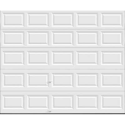 Holmes Bronze Series 10 Ft. W x 8 Ft. H White Steel Garage Door w/EZ-Set Torsion Spring