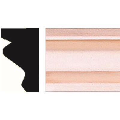 House of Fara 11/16 In. W. x 1-1/4 In. H. x 8 Ft. L. Hardwood Decorative Shoe Detail Molding