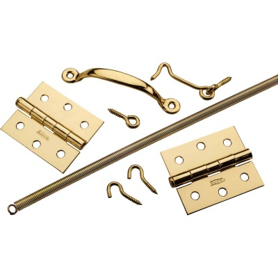 National Brass 2-Hinge Screen Door Kit