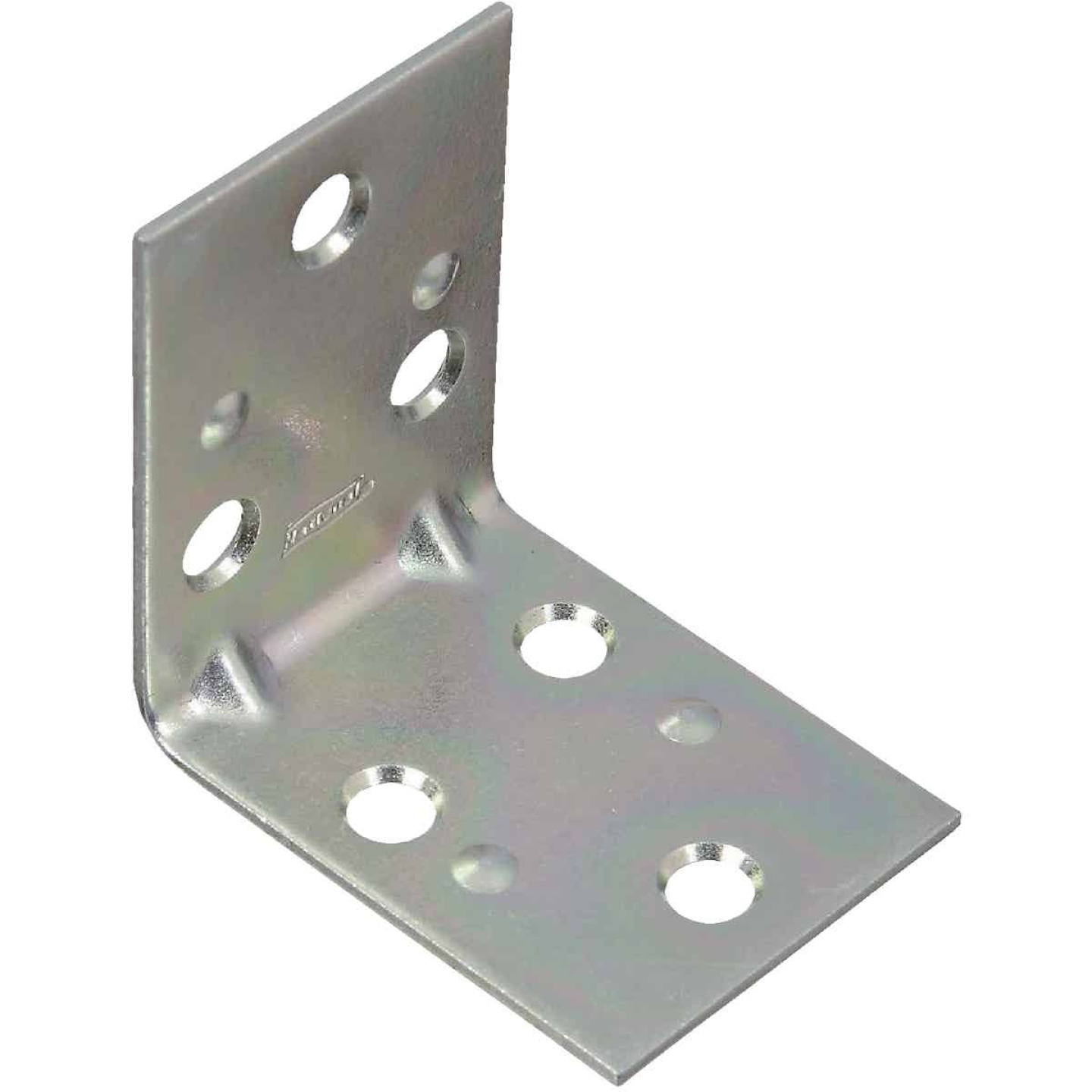 National Catalog V121 2 In. x 1-1/2 In. Double Wide Zinc Corner Brace Image 1