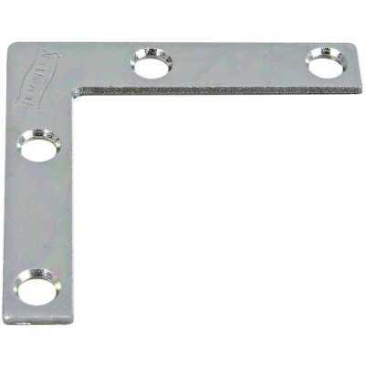 National Catalog 117 2 In. x 3/8 In. Zinc Flat Corner Iron (4-Count)