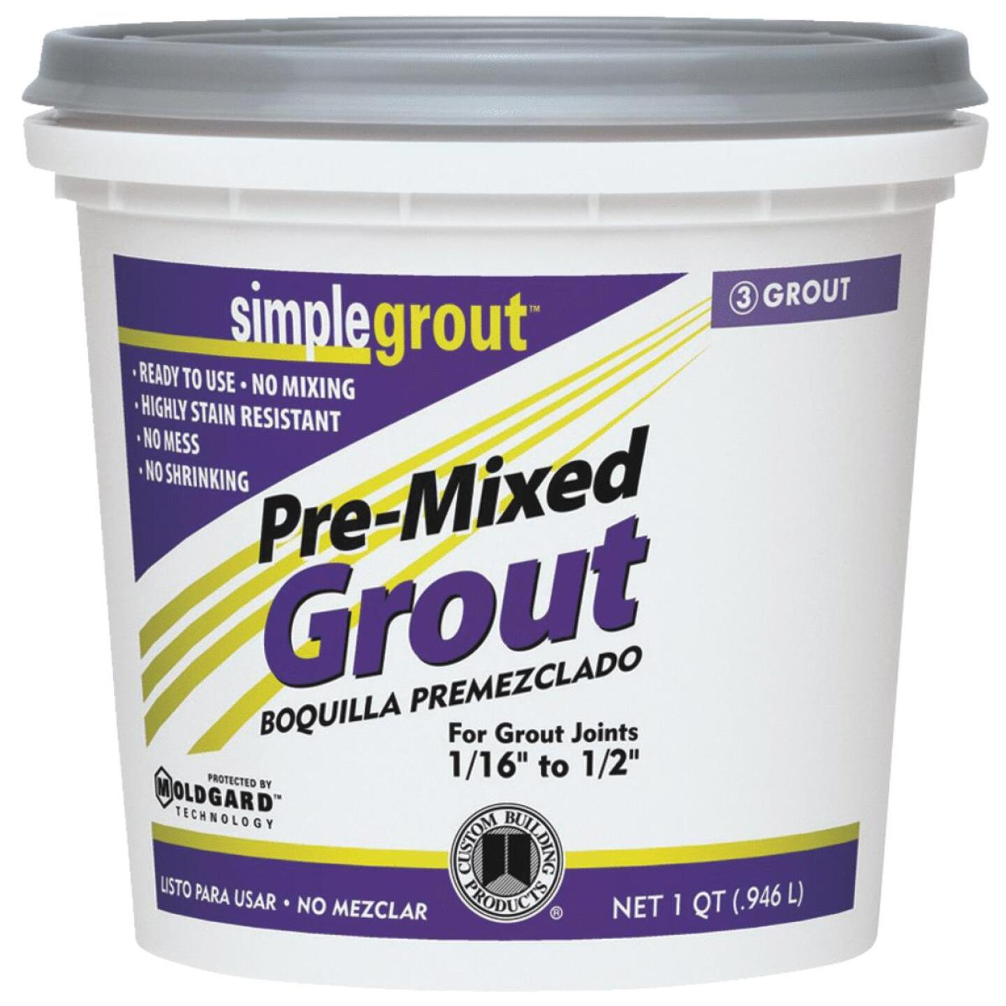Custom Building Products Simplegrout Quart Bright White Pre-Mixed Tile Grout Image 1