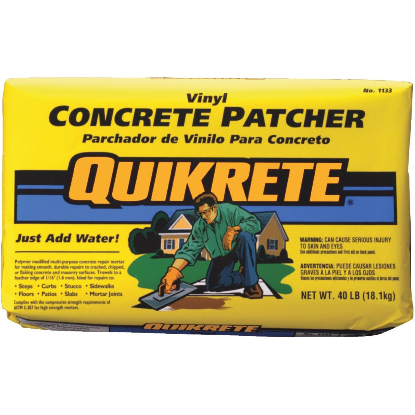 Quikrete 40 Lb Ready-to-Use, Gray Concrete Patch Image 1