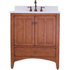 Sunny Wood Expressions Warm Cinnamon 30 In. W x 34 In. H x 21-1/4 In. D Vanity Base, 2 Door/1 Drawer Image 1