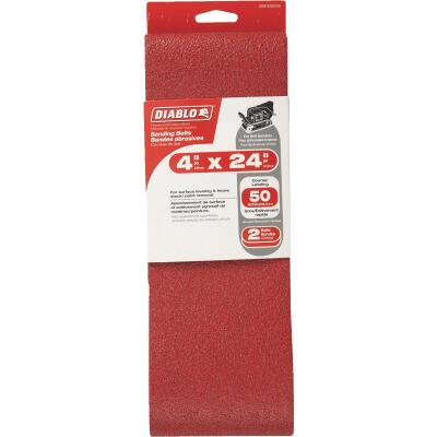 Diablo 4 In. x 24 In. 50 Grit General Purpose Sanding Belt (2-Pack)