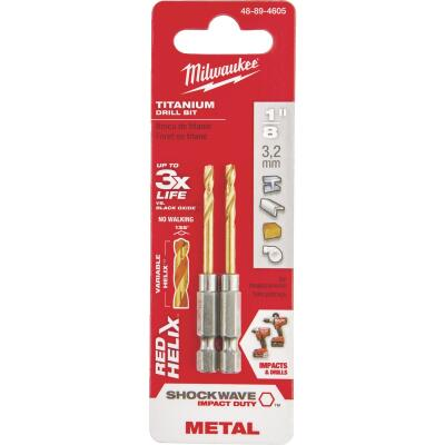 Milwaukee Shockwave Impact Duty 1/8 In. Titanium Hex Shank Drill Bit