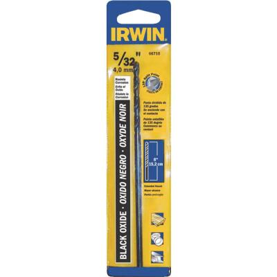 Irwin 5/32 In. x 6 In. M-2 Black Oxide Extended Length Drill Bit