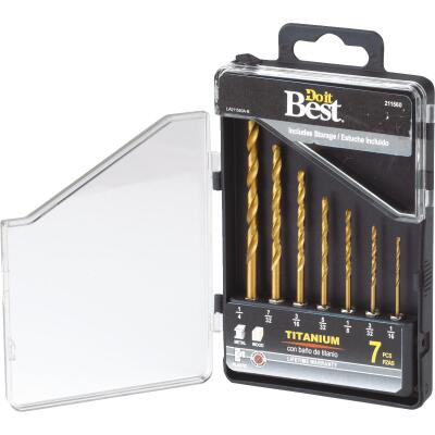 Do it Best 7-Piece Titanium Hex Shank Drill Bit Set, 1/16 In. thru 3/16 In.