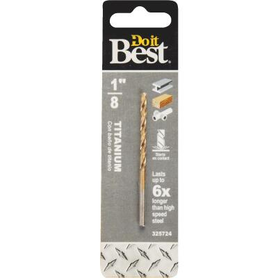 Do it Best 1/8 In. Titanium Drill Bit