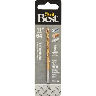 Do it Best 11/64 In. Titanium Drill Bit