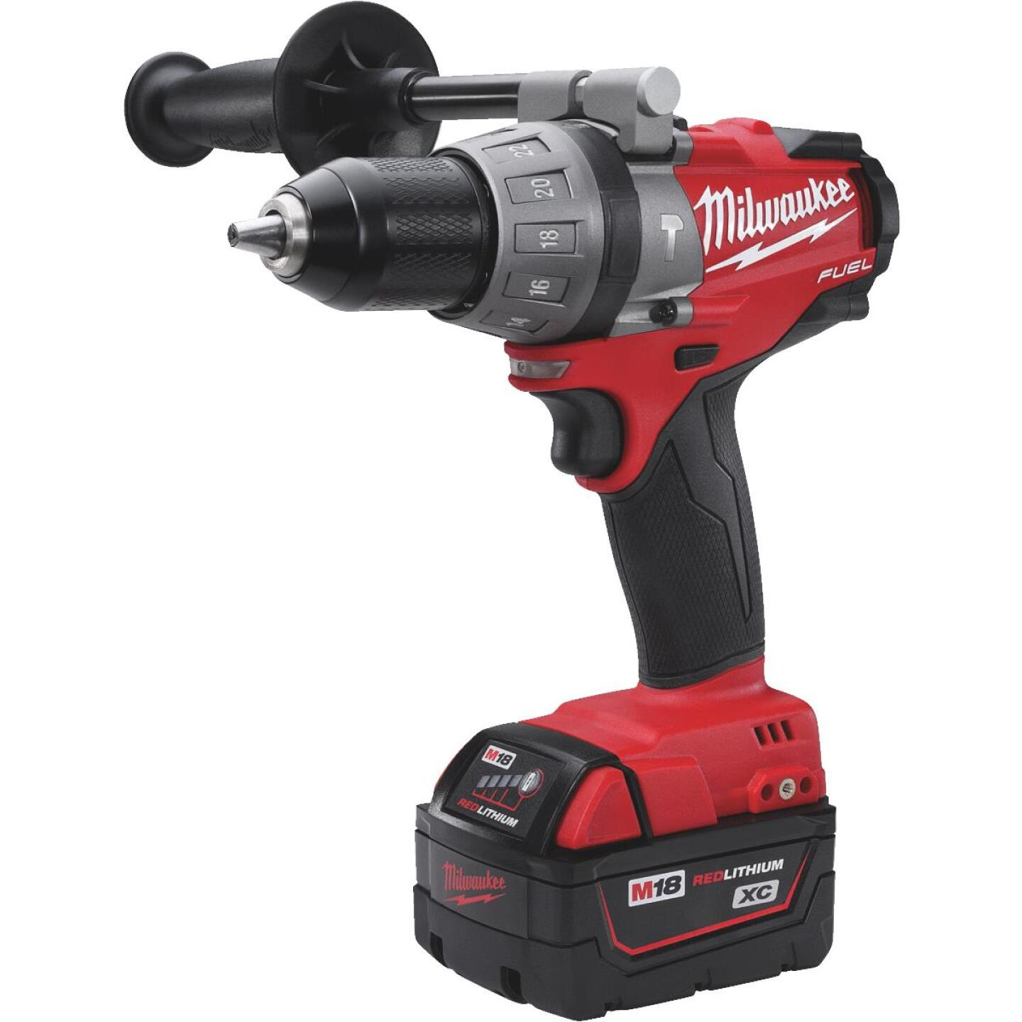 Milwaukee M18 FUEL 18-Volt XC Lithium-Ion Brushless 1/2 In. Cordless Hammer Drill Kit Image 2