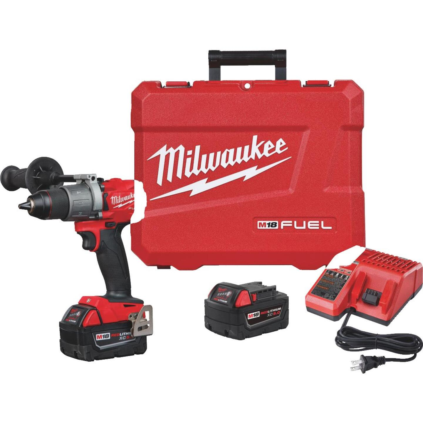 Milwaukee M18 FUEL 18-Volt XC Lithium-Ion Brushless 1/2 In. Cordless Hammer Drill Kit Image 4