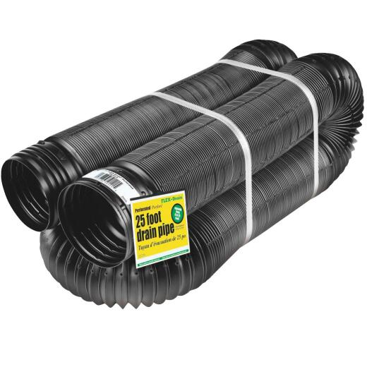 Amerimax 4 In. X 25 Ft. FLEX-Drain Expandable Perforated Drainage Pipe