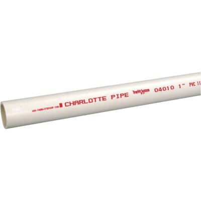 Charlotte Pipe 1 In. x 10 Ft. PVC Cold Water Pressure Schedule 40 Pipe