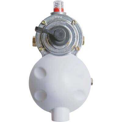 MR. HEATER 1/4 In. FPI x 3/8 In. FPO Dual Stage Auto-Changeover Low-Pressure Regulator