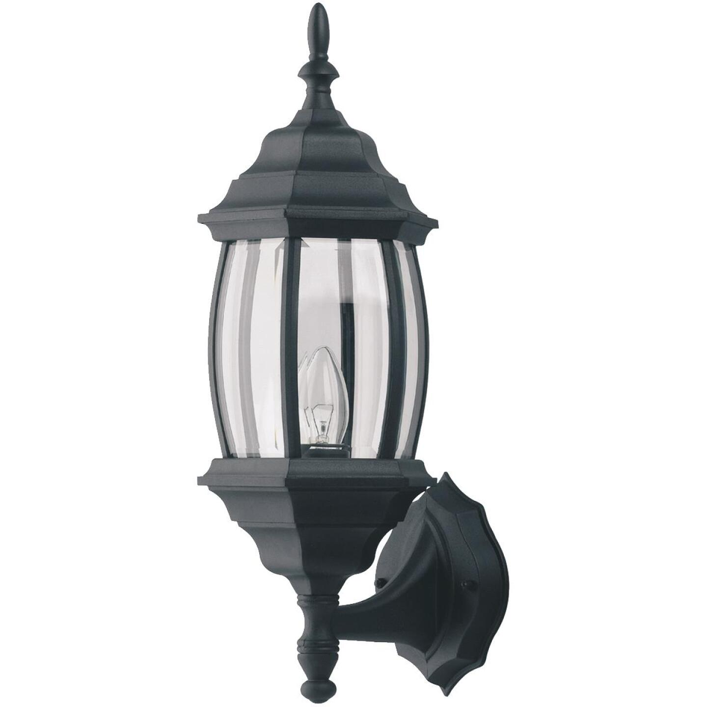 Home Impressions Black Incandescent Type A or B Outdoor Wall Light Fixture (2-Pack) Image 2