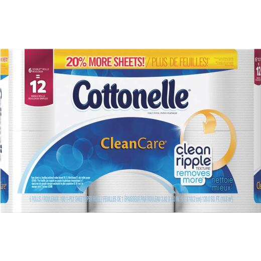 Cottonelle Clean Care Toilet Paper (6 Double Rolls)