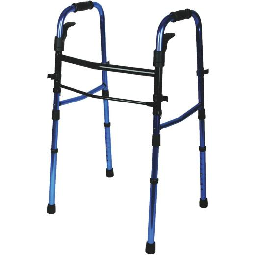 Medline Folding Walker with Wheels