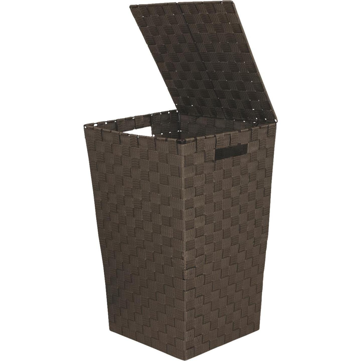 Home Impressions 13 In. x 20.5 In. H. Woven Laundry Hamper, Brown Image 1