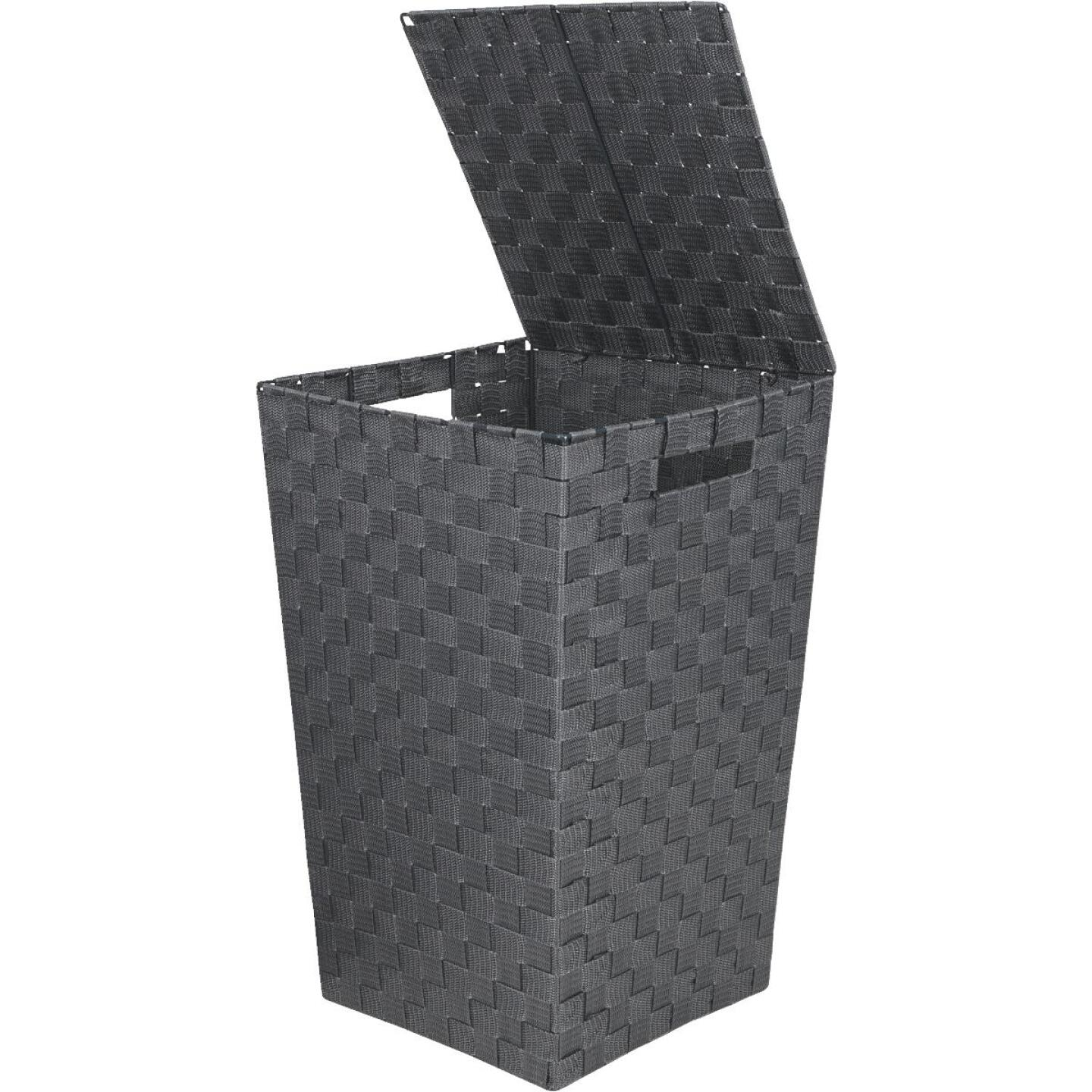 Home Impressions 13 In. x 20.5 In. H. Woven Laundry Hamper, Gray Image 1