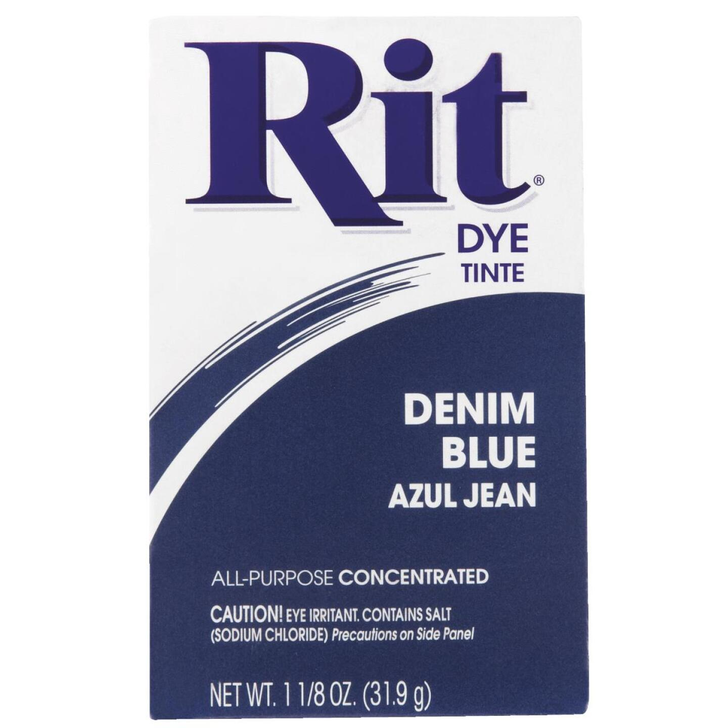 Rit Denim Blue 1-1/8 Oz. Powder Dye Image 2