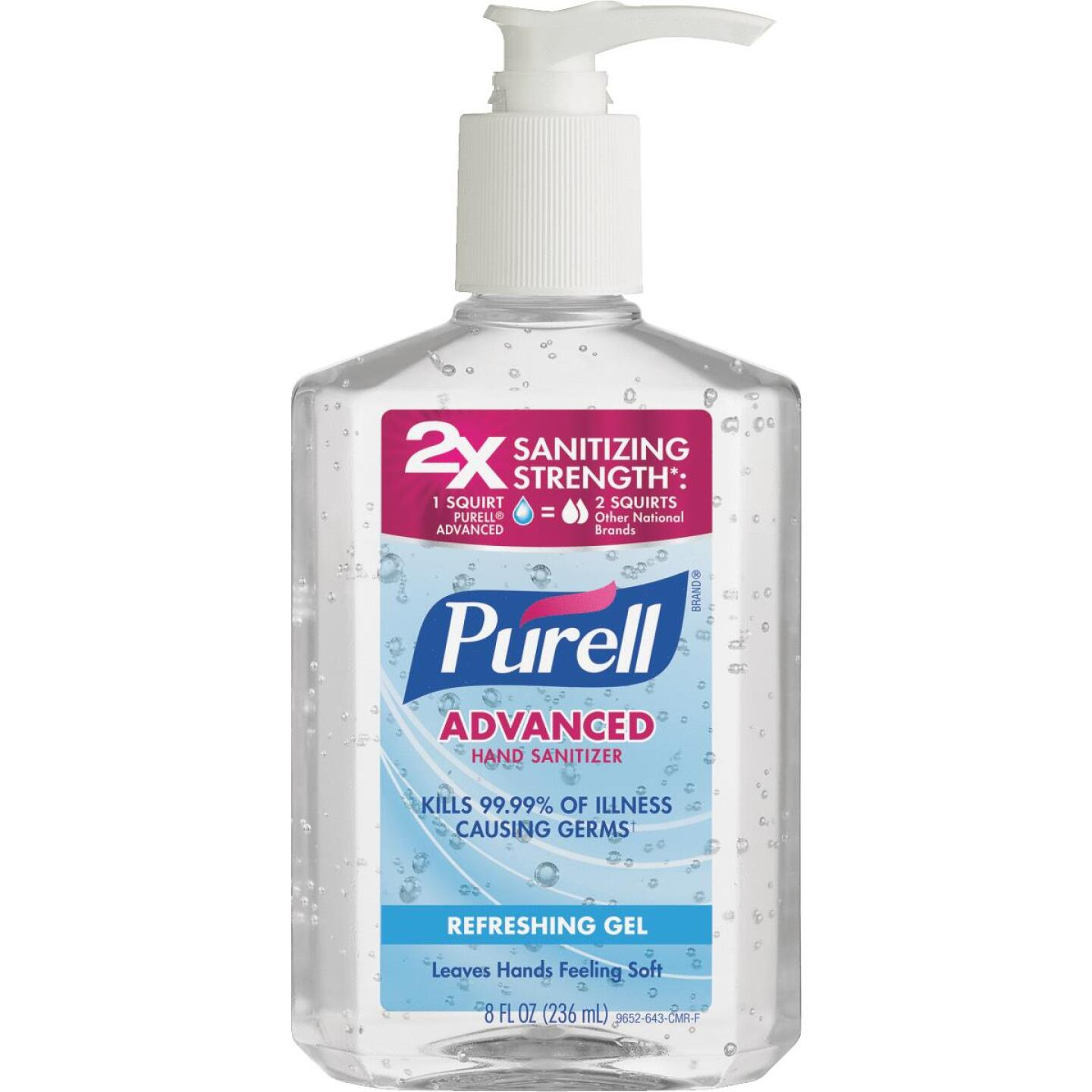 Purell Liquid, Pump Bottle 8 Oz. Hand Sanitizer Image 1