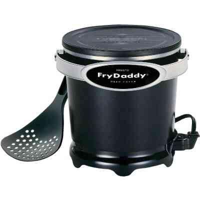 Presto FryDaddy 1 Qt. Black Aluminum Deep Fryer