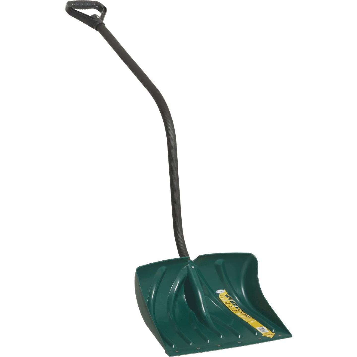 Suncast 18 In. Poly Snow Shovel & Pusher with 40.5 In. Steel Handle Image 1