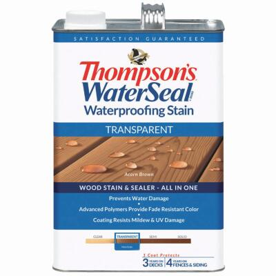 Thompsons WaterSeal Transparent Waterproofing Stain, Acorn Brown, 1 Gal.
