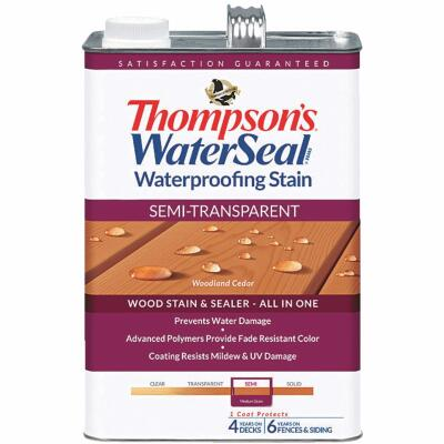 Thompsons WaterSeal Semi-Transparent Waterproofing Stain, Woodland Cedar, 1 Gal.