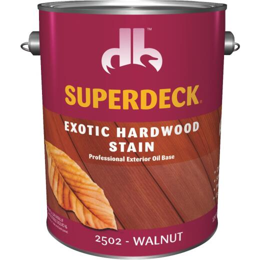 Duckback SUPERDECK Exotic Hardwood Deck Stain, Walnut, 1 Gal.