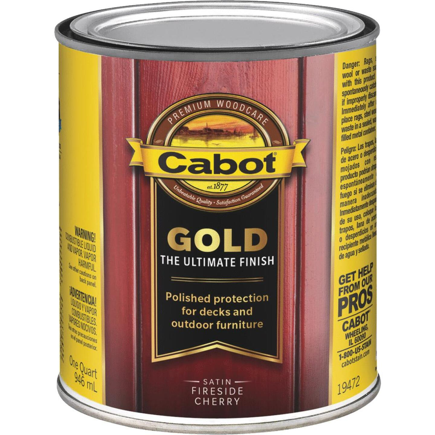 Cabot Gold Low VOC Exterior Stain, Fireside Cherry, 1 Qt. Image 1