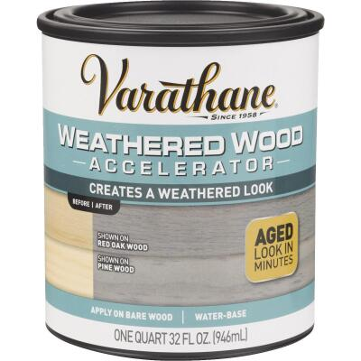 Varathane Weathered Wood Accelerator Stain, Gray, 1 Qt.