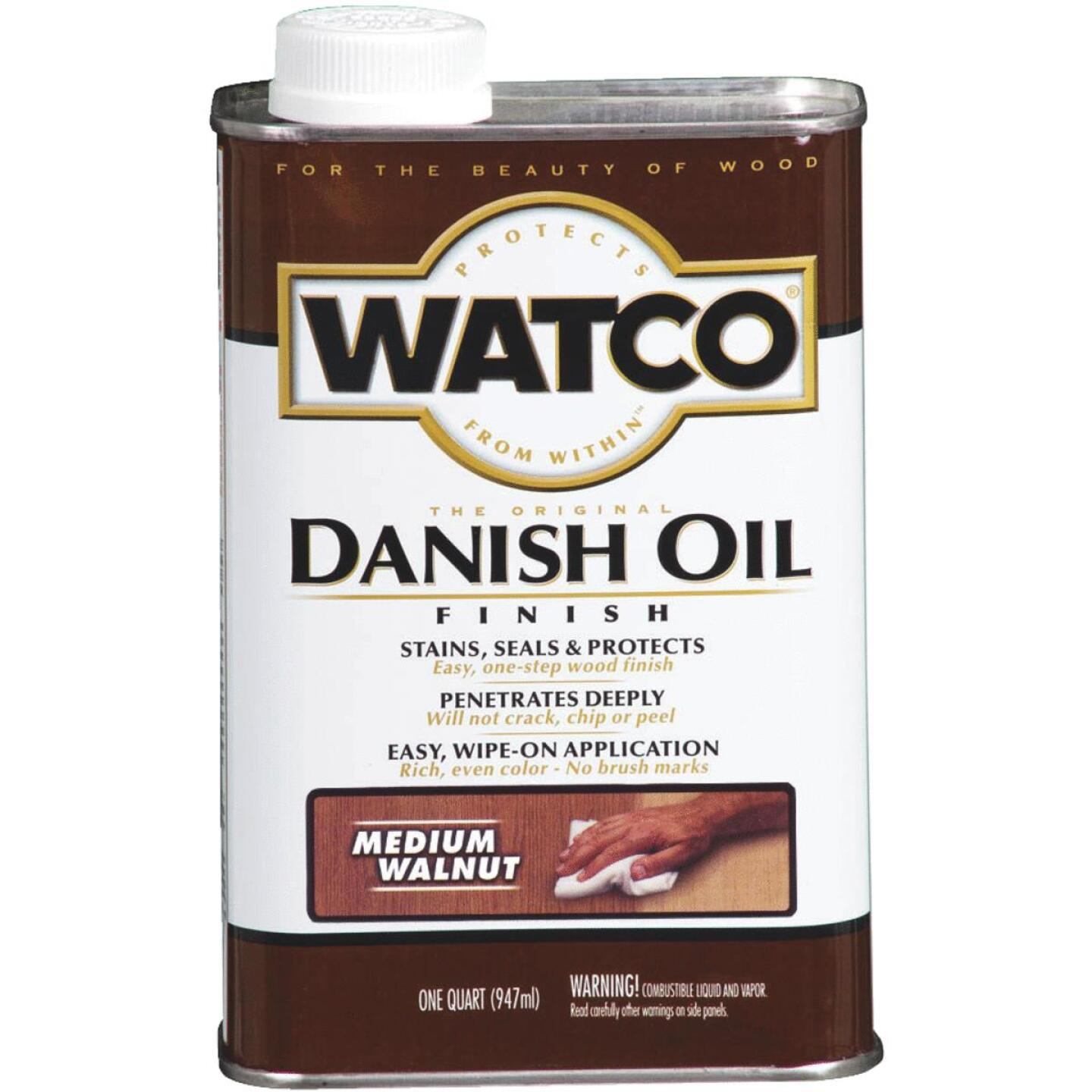 Watco Danish 1 Qt. Low VOC Medium Walnut Oil Finish Image 1