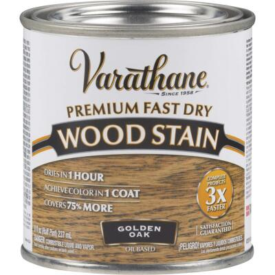 Varathane Fast Dry Golden Oak Urethane Modified Alkyd Interior Wood Stain, 1/2 Pt.