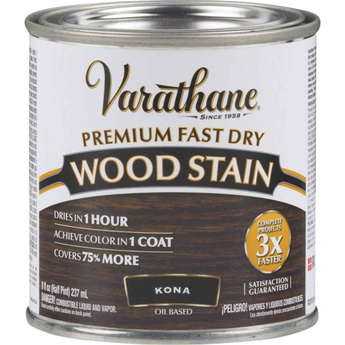 Varathane Fast Dry Kona Wood Urethane Modified Alkyd Interior Wood Stain, 1/2 Pt. Image 1