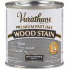 Varathane Fast Dry Weathered Gray Urethane Modified Alkyd Interior Wood Stain, 1/2 Pt. Image 1