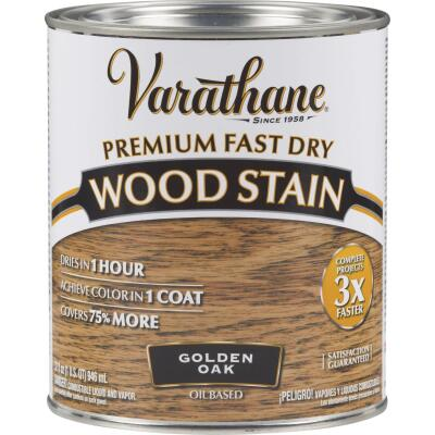 Varathane Fast Dry Golden Oak Urethane Modified Alkyd Interior Wood Stain, 1 Qt.