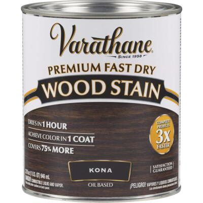 Varathane Fast Dry Kona Wood Urethane Modified Alkyd Interior Wood Stain, 1 Qt.