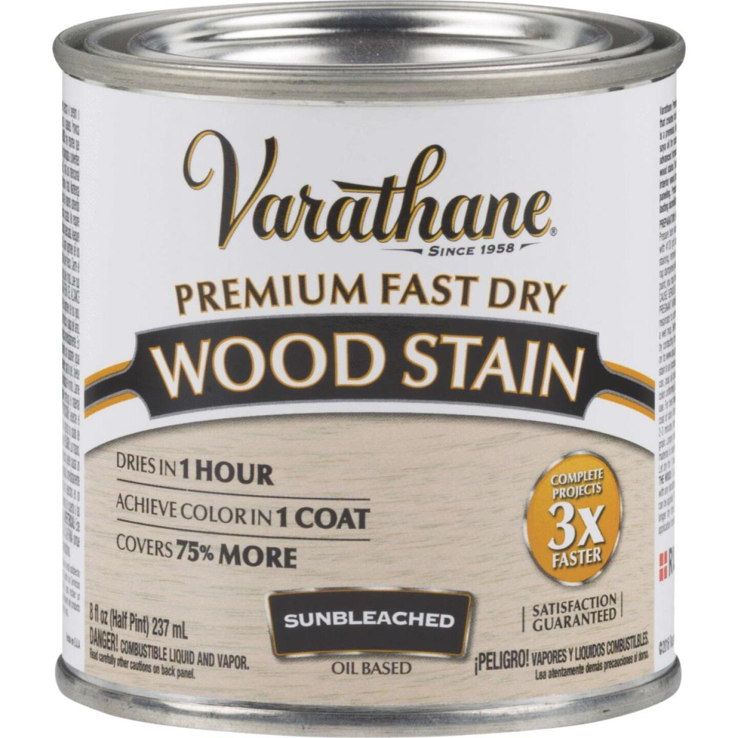 Varathane Fast Dry Sunbleached Wood Urethane Modified Alkyd Interior Wood Stain, 1/2 Pt. Image 1