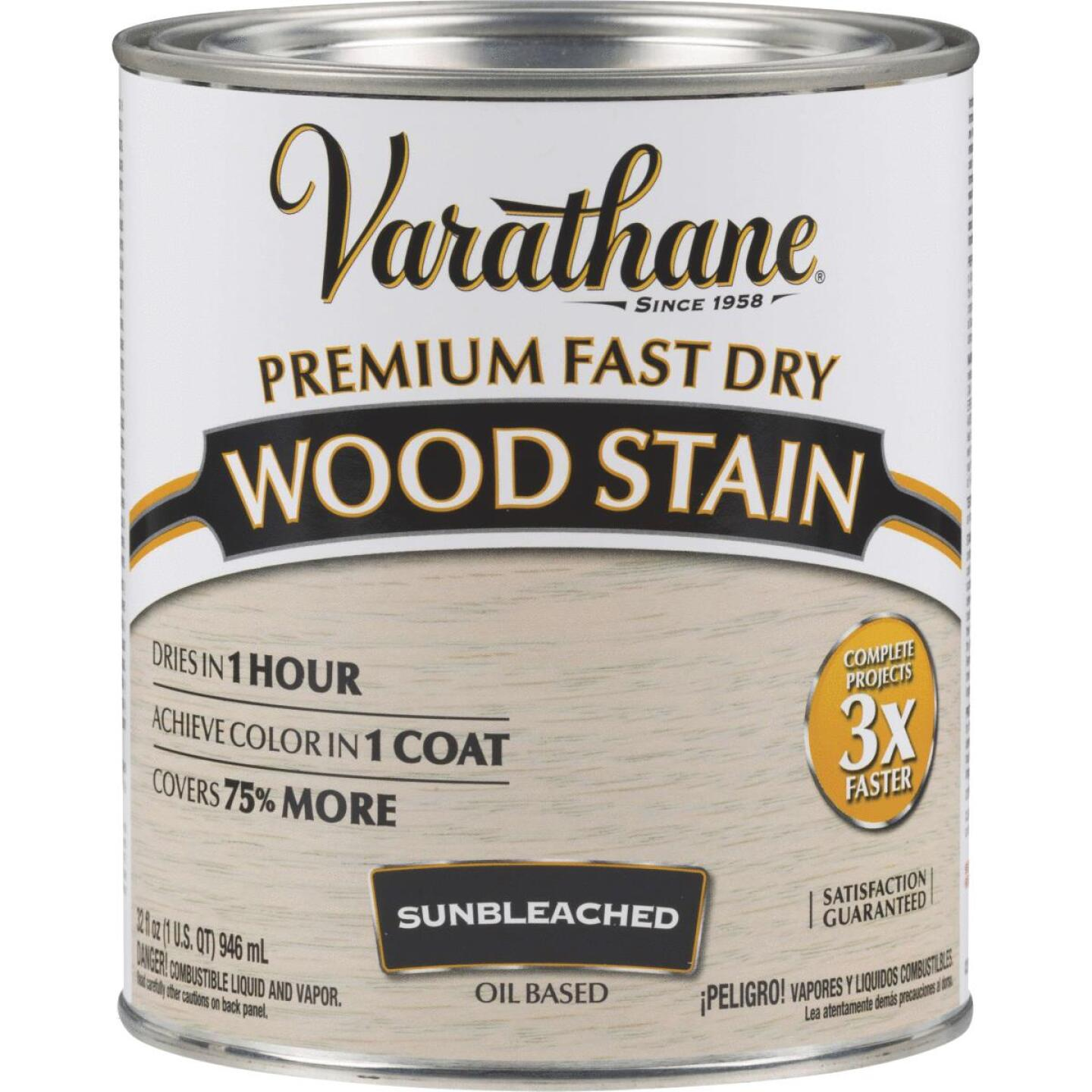 Varathane Fast Dry Sunbleached Wood Urethane Modified Alkyd Interior Wood Stain, 1 Qt. Image 1