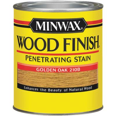 Minwax Wood Finish Penetrating Stain, Golden Oak, 1/2 Pt.